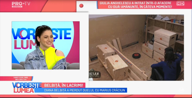 Diana Belbiță, primele declarații după ce a fost eliminată din Ferma. Ce planuri de viitor a anunțat luptătoarea