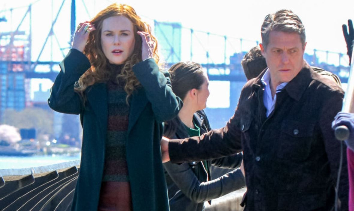 Nicole Kidman și Hugh Grant, primiți cu furie în Shelter Island. Localnicii au blocat filmările unui serial