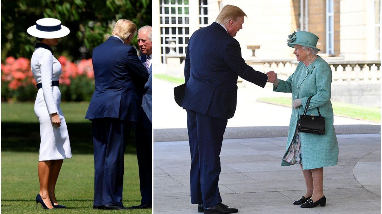 Donald Trump s-a întâlnit cu Regina. Președintele a încălcat din nou protocolul