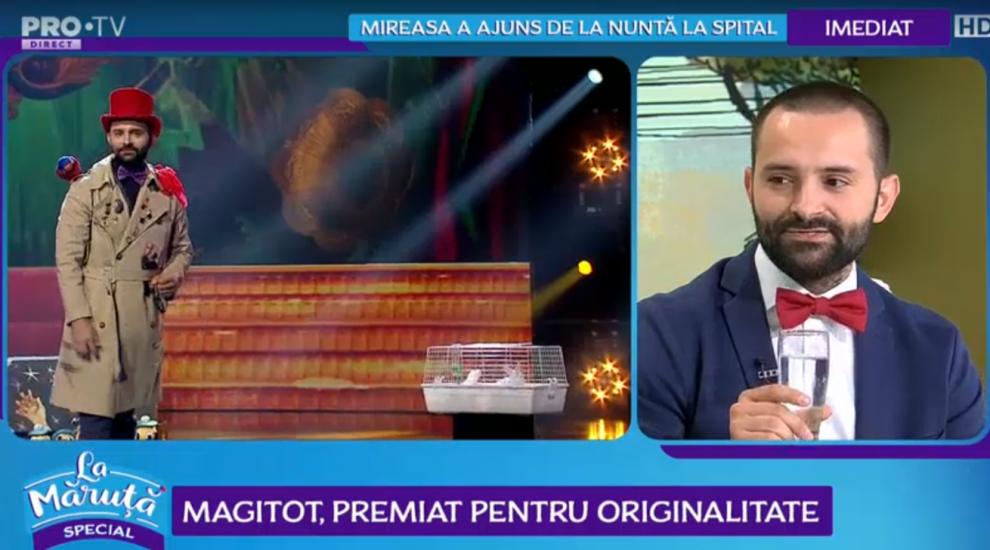 """VIDEO Magitot, premiat pentru originalitate: """"Pe drum spre București mi-am făcut numărul"""""""