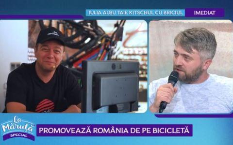 VIDEO Alin Panc și Văru  Săndel promovează România de pe bicicletă