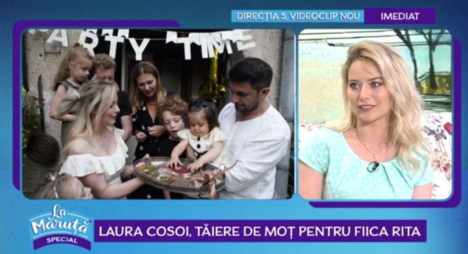 Laura Cosoi, despre petrecerea de un an a Ritei. Ce obiecte a ales micuța la tăierea moțului