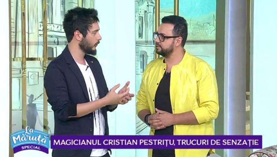 Cristian Pestrițu, magicianul de la Românii au talent, l-a impresionat pe Cătălin Măruță cu un număr inedit de magie