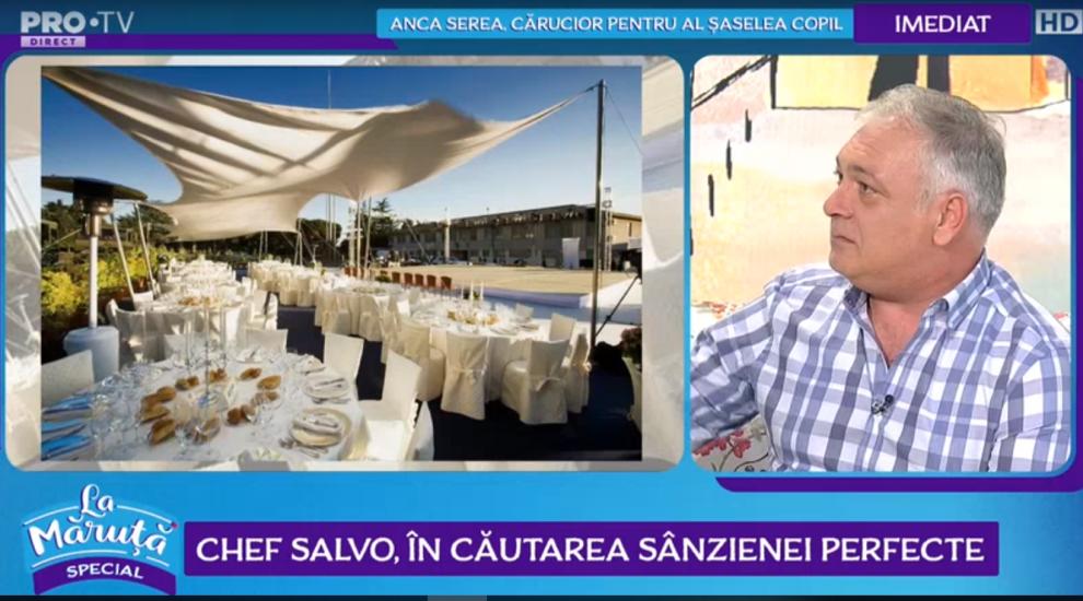 VIDEO Chef Salvo, nominalizat pentru cel mai bun bucătar din 2019