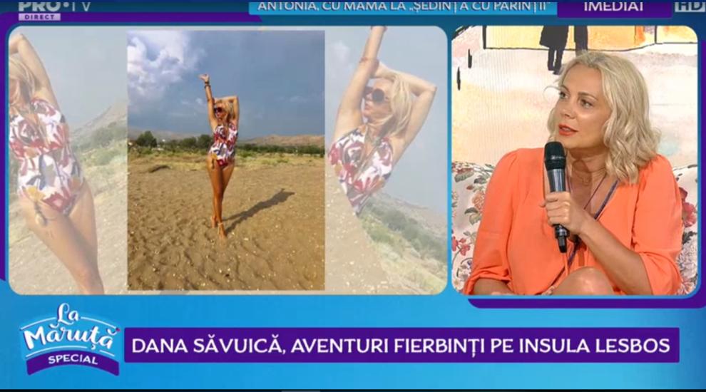 VIDEO Dana Săvuică, aventuri fierbinți pe insula Lesbos