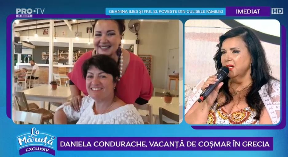 Daniela Condurache, povestiri din vacanță. Prin ce peripeții a trecut cântăreața