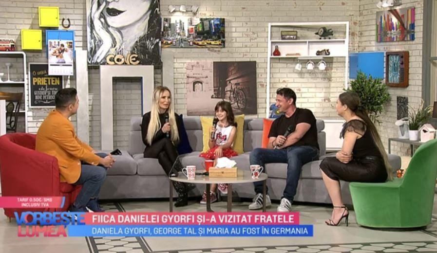 Daniela Gyorfi, George Tal și fiica lor, povestiri din vacanță