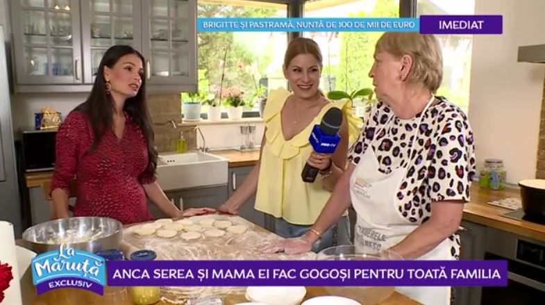 VIDEO Anca Serea și mama ei ne dezvăluie rețeta proprie de gogoși