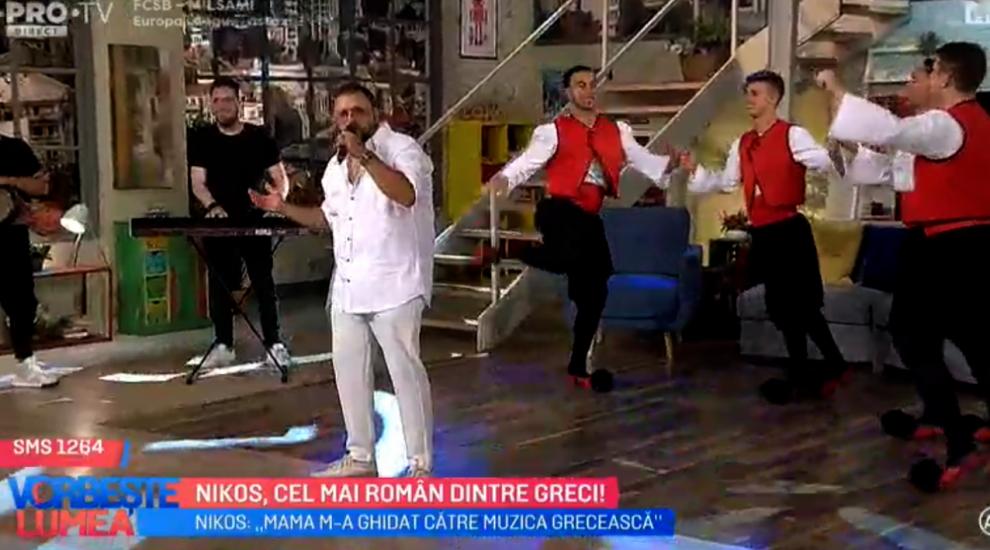 VIDEO Nikos, cel mai român dintre greci