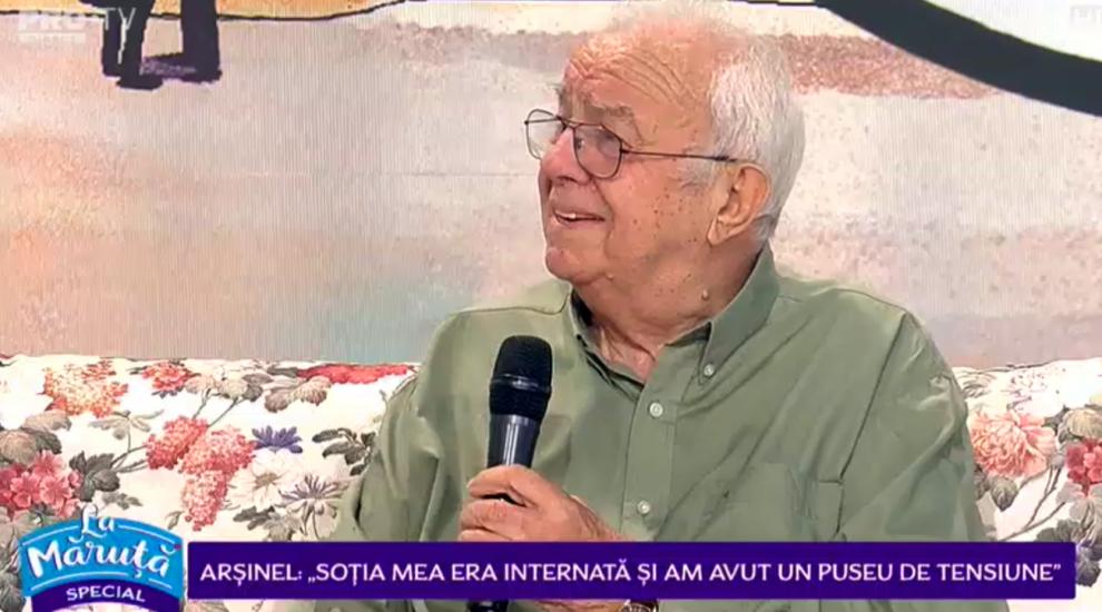 """VIDEO Alexandru Arșinel, motivele pentru a ajuns la urgență: """"Nu mai scap de internările astea!"""""""