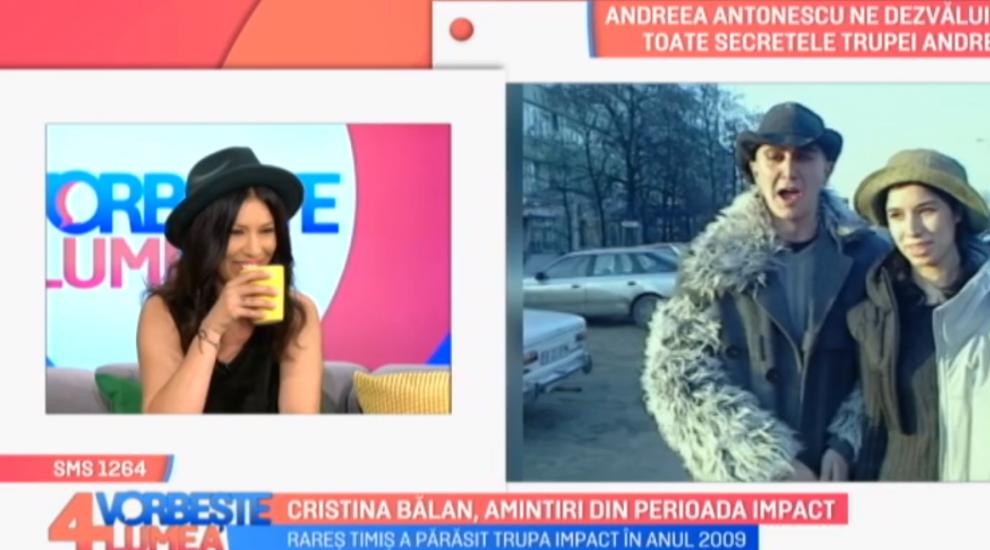 "VIDEO Cristina Bălan, amintiri din perioada ""Impact"""