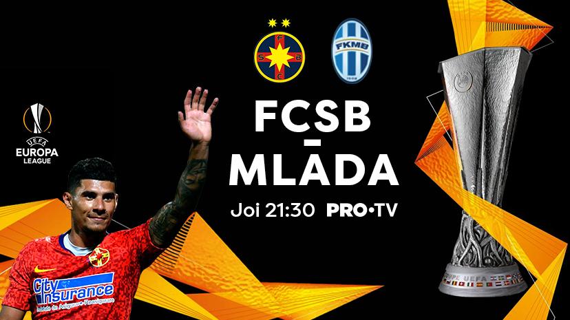 FCSB ndash; Mlada Boleslav se vede numai la PRO TV joia aceasta