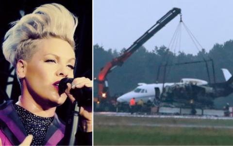 Avionul cântăreței Pink s-a prăbușit în Danemarca