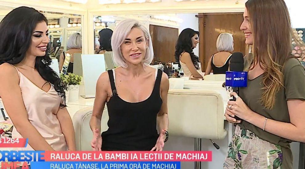 VIDEO Raluca de la Bambi are o nouă pasiune: machiajul. Artista ia lecții de la profesioniști