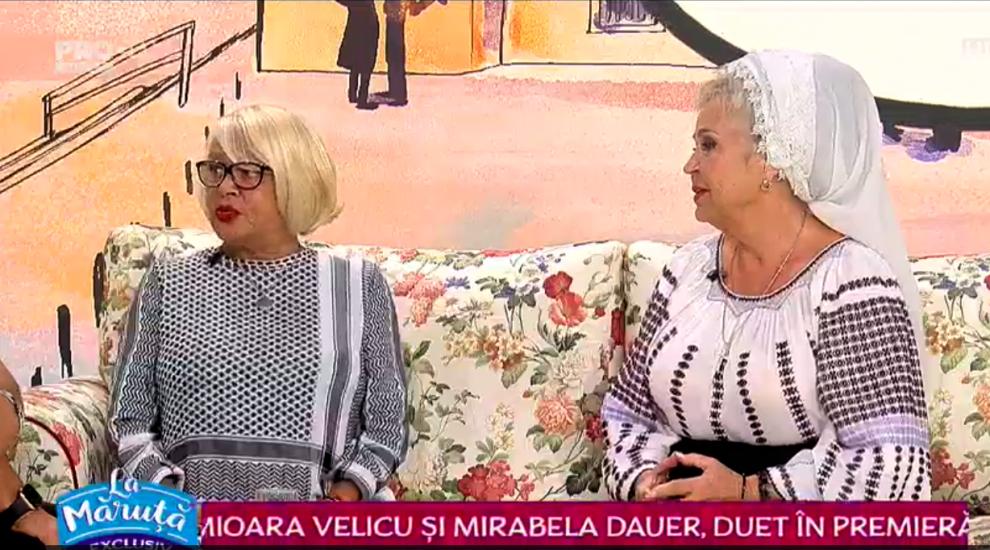 VIDEO Mioara Velicu și Mirabela Dauer, duet în premieră