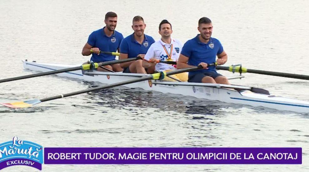 VIDEO Robert Tudor, surpriză magică pentru olimpicii de la canotaj