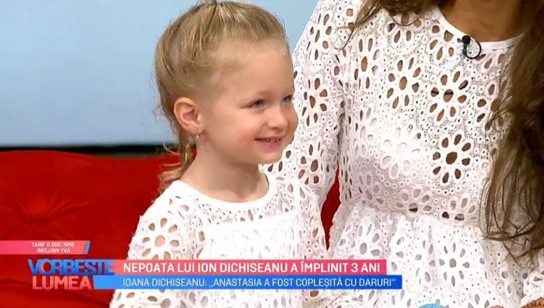 VIDEO Nepoata lui Ion Dichiseanu a împlinit 3 ani