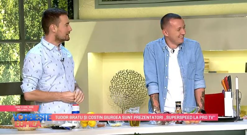 VIDEO Costin Giurgea și Tudor Bratu fac echipă în bucătărie