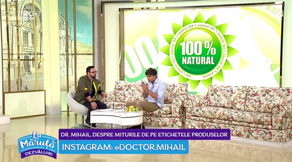 """Doctor Mihail, despre miturile de pe etichetele produselor:""""Trebuie să citim ce conțin produsele din supermarketuri"""""""