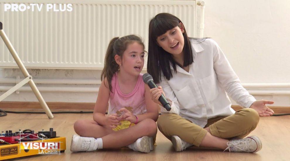 """VIDEO Irina Rimes, duet neașteptat cu o fetiță de 8 ani la Visuri la cheie. """"M-am emoționat foarte tare"""""""
