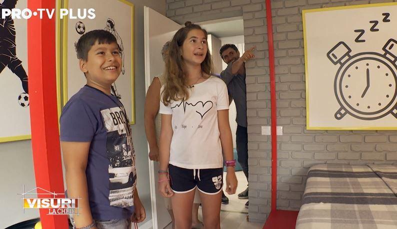 Reacția Cosminei și a lui Gabriel după ce și-au vazut camerele renovate