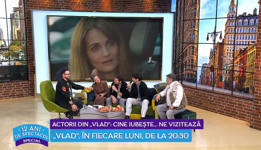 Actorii din VLAD, cadou aniversar pentru Cătălin Măruță la 12 ani de emisiune
