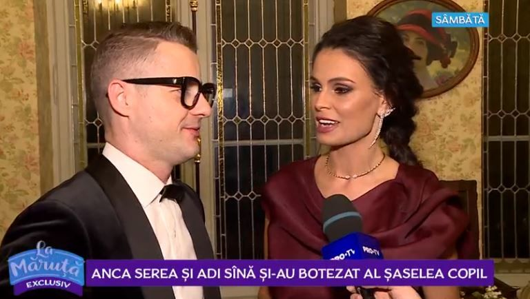 VIDEO Anca Serea și Adi Sînă și-au botezat al șaselea copil