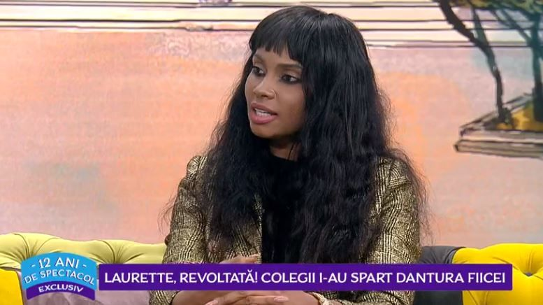 VIDEO Laurette revoltată! Colegii i-au spart dantura fiicei sale