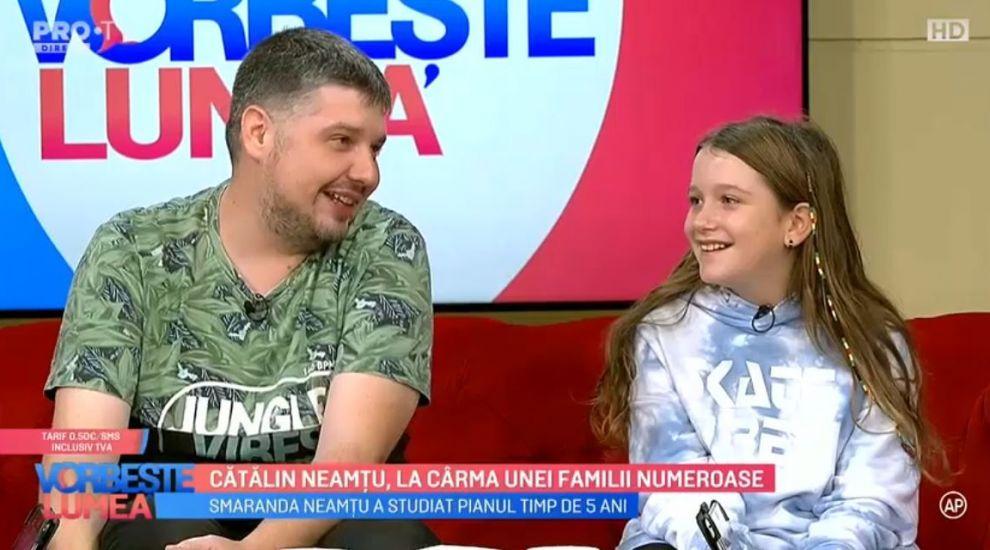 VIDEO Cătălin Neamțu, la cârma unei familii numeroase