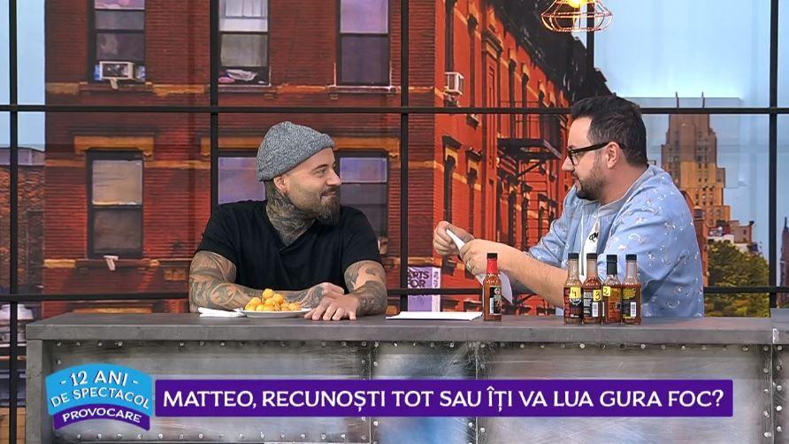 """VIDEO Matteo, pus în fața unei provocări """"picante"""". Cum a reacționat cântărețul"""