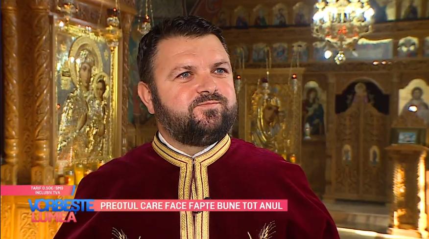 VIDEO Preotul care face fapte bune tot anul