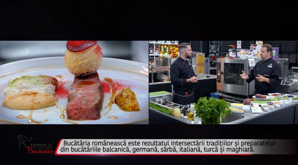ARENA BUCĂTARILOR: Antricot de vită cu trei feluri de hummus cu arome românești