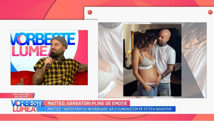 Sărbători pline de emoții pentru Matteo. Cântărețul va deveni tată pentru prima oară