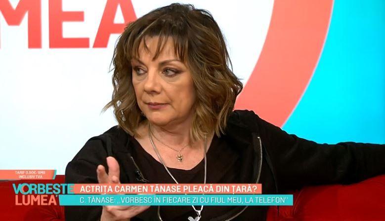 VIDEO Actrița Carmen Tănase pleacă din țară?