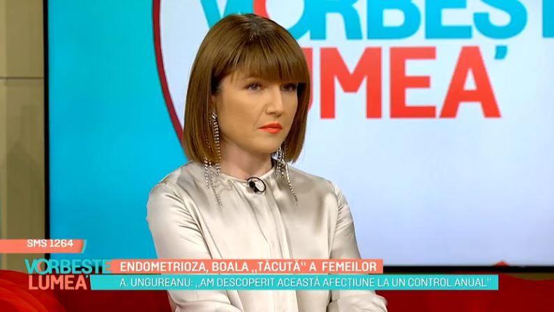 VIDEO Alexandra Ungureanu, despre endometrioză, boala tăcută a femeilor