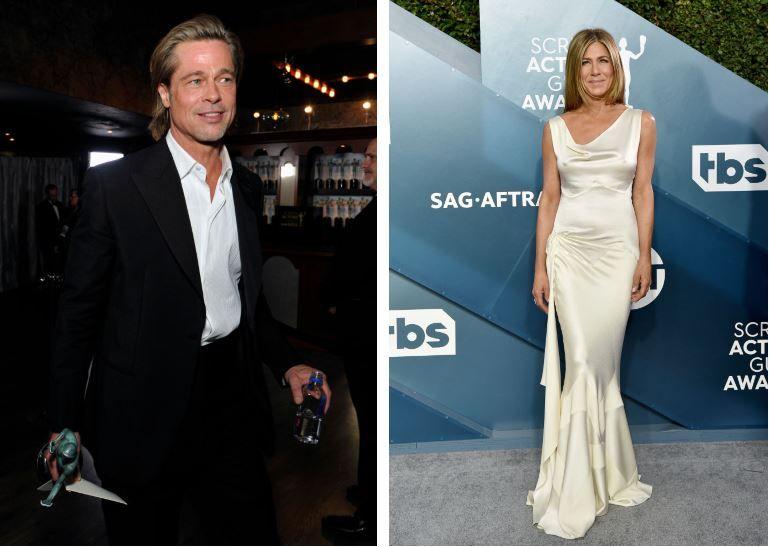 """""""BRANISTON"""" se întoarce! Brad Pitt și Jennifer Aniston, surprinși sărbătorind împreună la premiile SAG"""