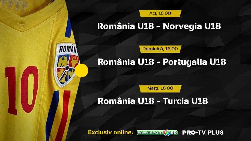 protvplus.ro și sport.ro vor transmite în exclusivitate meciurile României U18 de la turneul de pregătire din Spania!