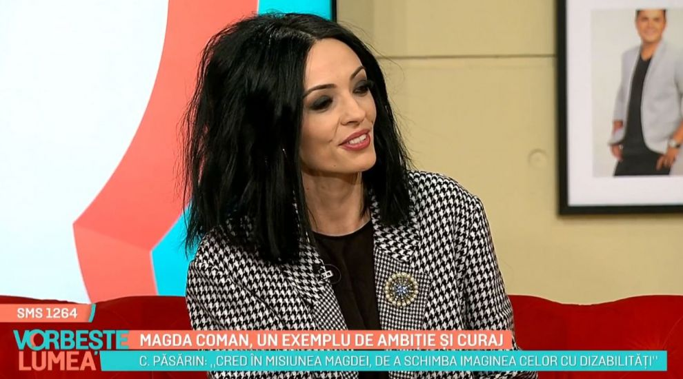 Cosmina Păsărin, apariție inedită la PRO TV. Promovează defilările de modă ale femeilor în scaun cu rotile