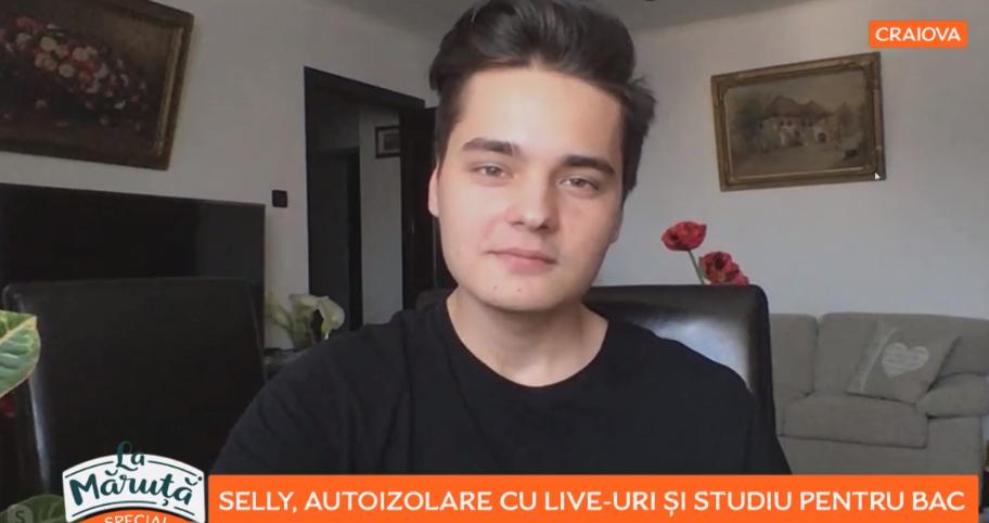 VIDEO Selly, autoizolare cu live-uri și studiu pentru BAC