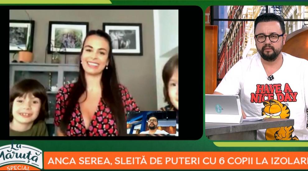 VIDEO Anca Serea, sleită de puteri cu 6 copii în autoizolare