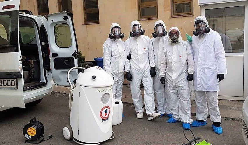 Cine sunt oamenii care au dezinfectat Spitalul Dimitrie Gerota, primul focar de coronavirus din România