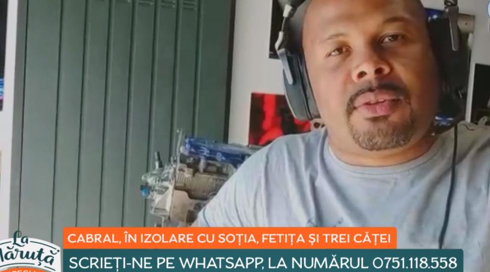VIDEO Cum arată o zi din viața lui Cabral, în autoizolare