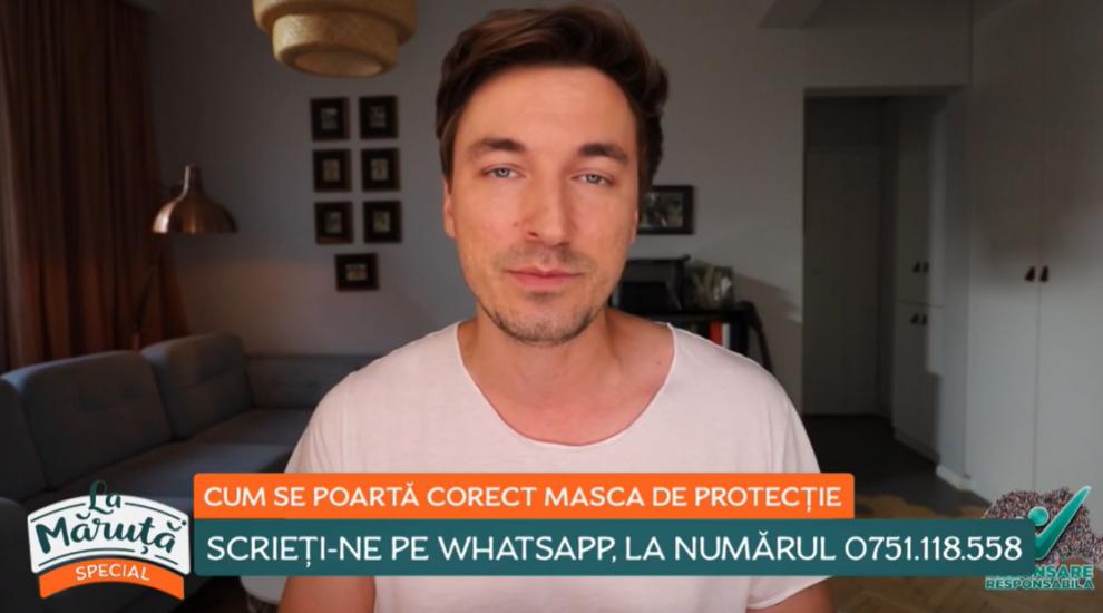 Cum se poartă corect masca de protecție. Sfaturi de la dr. Mihail Pautov