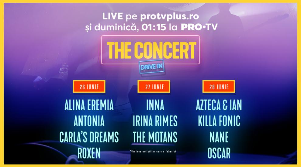 PRO TV aduce distracția la tine acasă în cel mai mare concert drive-in: THE CONCERT drive-in