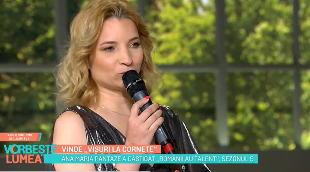 """Vinde """"Visuri la cornete"""". Melodia lansată de Ana Maria Pantaze la un an după succesul de la Românii au talent"""