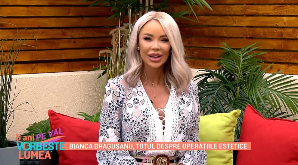 Bianca Drăgușanu, dezvăluiri în exclusivitate despre toate operațiile ei estetice