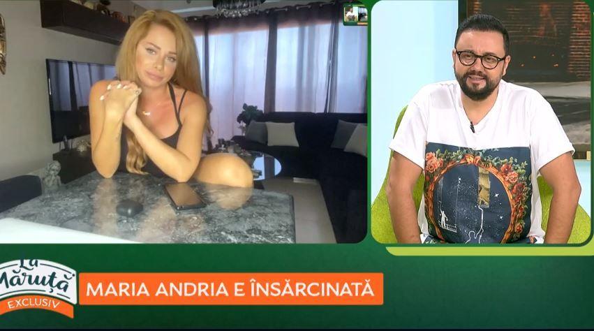 Maria Andria este însărcinată! A dat vestea cea mare în direct, în emisiunea La Măruță