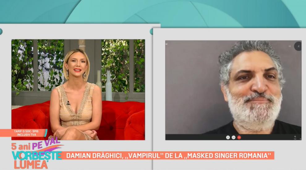 """Damian Drăghici, """"Vampirul"""" de la Masked Singer România. Cum a trăit această experiență"""