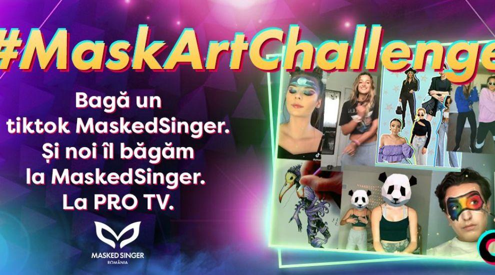 Postează un tiktok inspirat și poți ajunge la TV, în marea finală Masked Singer România!