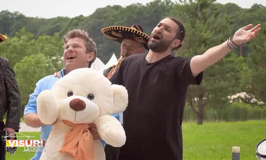 """VIDEO Pavel Bartoș și Smiley, apariție surprinzătoare la Visuri la cheie. """"Iartă-ne, Roberta!"""""""